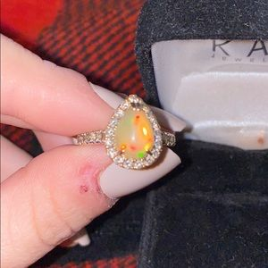 Size 6 Le Vian Neopolitan opal ring